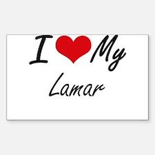 I Love My Lamar Decal
