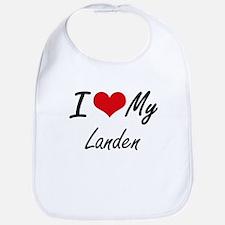 I Love My Landen Bib