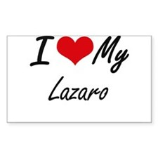 I Love My Lazaro Decal