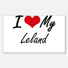 I Love My Leland Decal