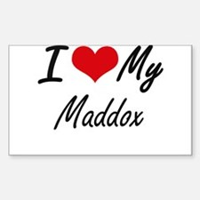 I Love My Maddox Decal
