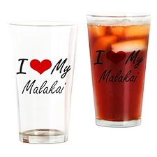 I Love My Malakai Drinking Glass