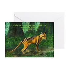 Thylacine Greeting Card