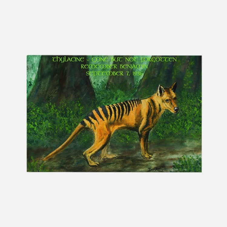 Thylacine Rectangle Magnet