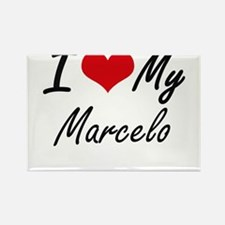 I Love My Marcelo Magnets
