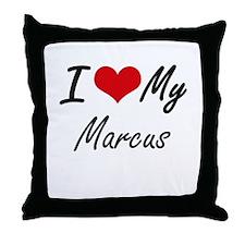 I Love My Marcus Throw Pillow