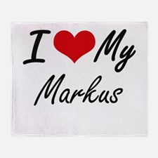 I Love My Markus Throw Blanket