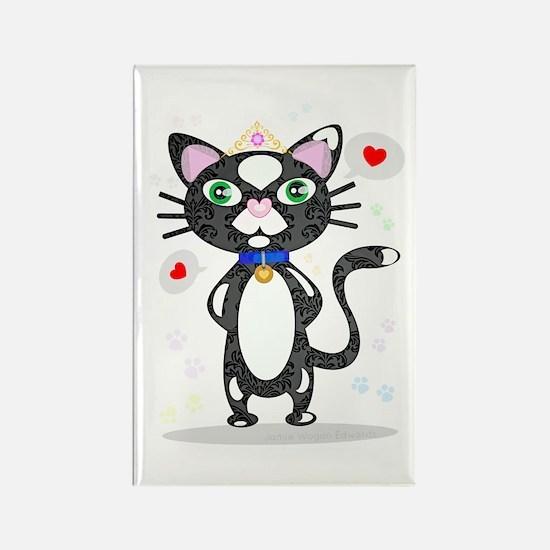 Unique Tux cat Rectangle Magnet