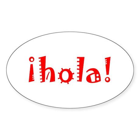 hola Sticker (Oval)
