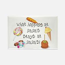 What Happens at Nana's... Rectangle Magnet (100 pa