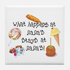 What Happens at Nana's... Tile Coaster