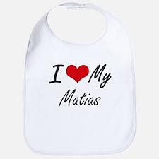 I Love My Matias Bib
