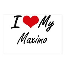 I Love My Maximo Postcards (Package of 8)