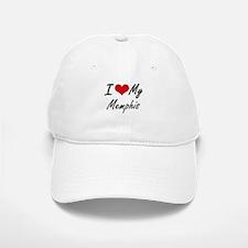 I Love My Memphis Baseball Baseball Cap