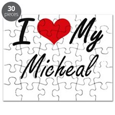 I Love My Micheal Puzzle