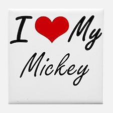 I Love My Mickey Tile Coaster