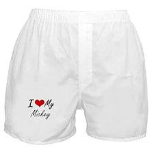 I Love My Mickey Boxer Shorts