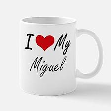 I Love My Miguel Mugs