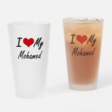 I Love My Mohamed Drinking Glass