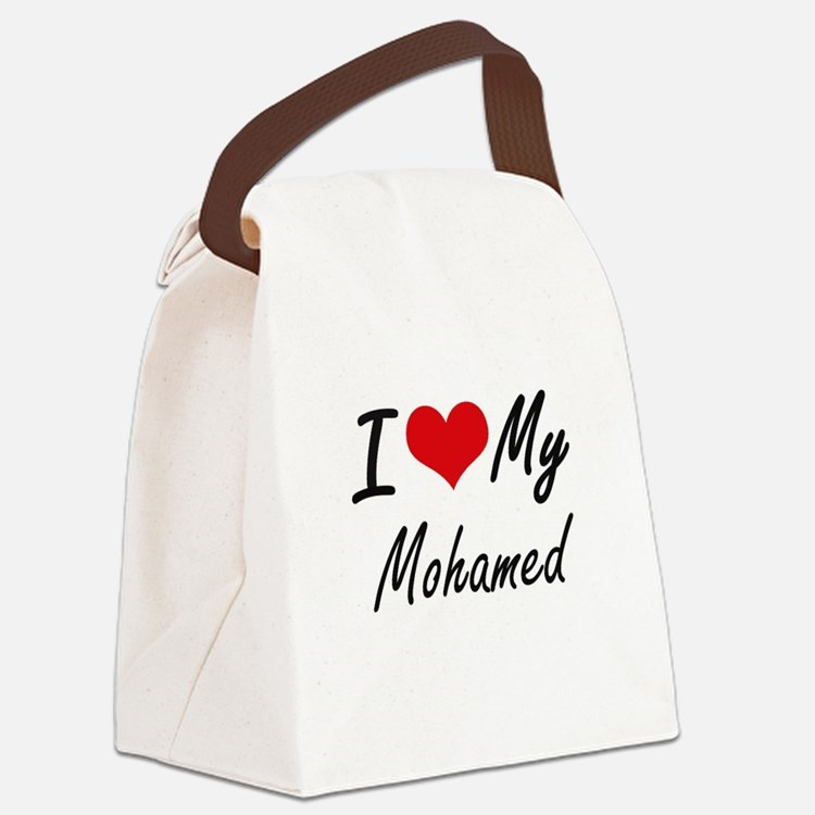 I Love My Mohamed Canvas Lunch Bag