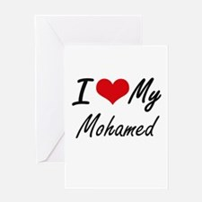 I Love My Mohamed Greeting Cards