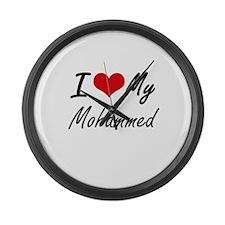 I Love My Mohammed Large Wall Clock