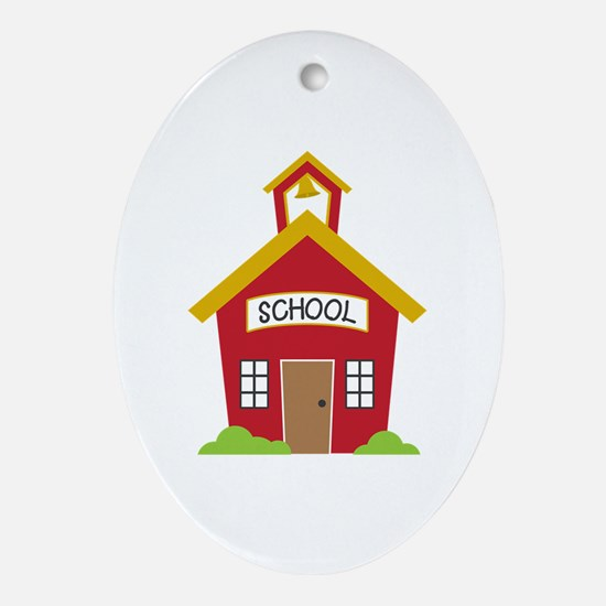 School House Oval Ornament