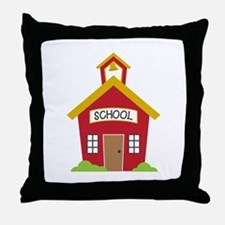 School House Throw Pillow