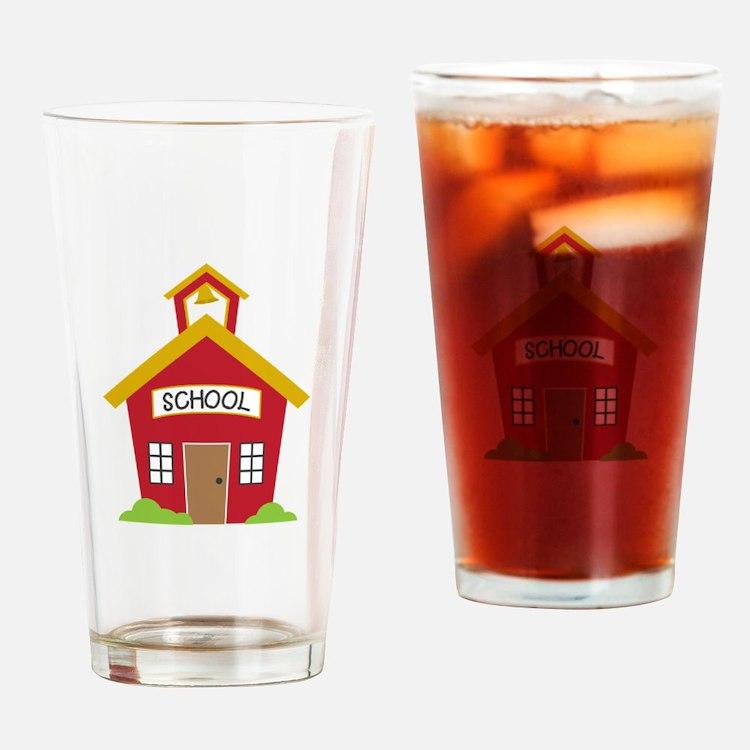 School House Drinking Glass
