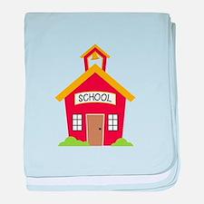 School House baby blanket