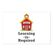 Learning Is Required Postcards (Package of 8)