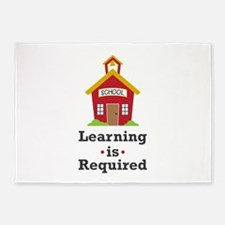 Learning Is Required 5'x7'Area Rug