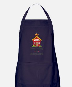 Learning Is Required Apron (dark)
