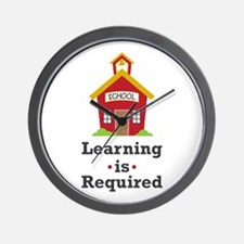 Learning Is Required Wall Clock