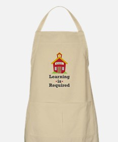 Learning Is Required Apron