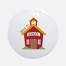Back To School Round Ornament