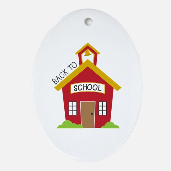Back To School Oval Ornament
