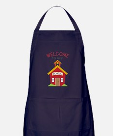 Welcome To School Apron (dark)