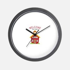 Welcome To School Wall Clock