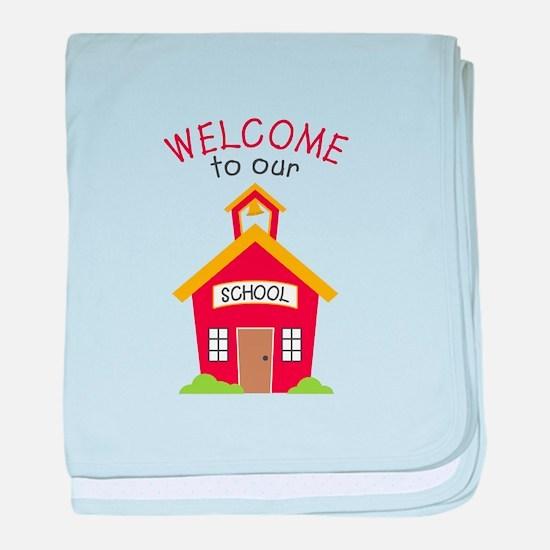 Welcome To School baby blanket