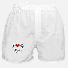 I Love My Myles Boxer Shorts