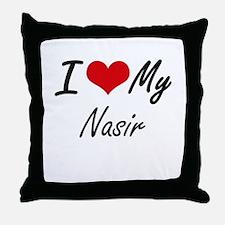 I Love My Nasir Throw Pillow