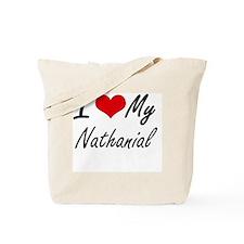 I Love My Nathanial Tote Bag