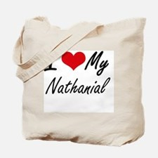 I Love My Nathanial Tote Bag