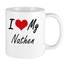I Love My Nathen Mugs
