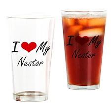 I Love My Nestor Drinking Glass