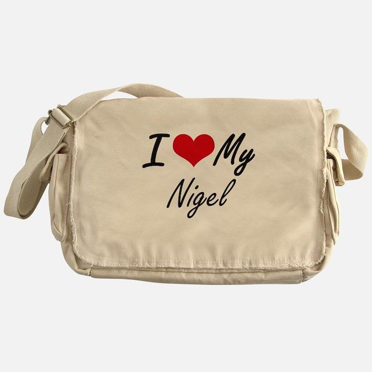 I Love My Nigel Messenger Bag