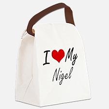 I Love My Nigel Canvas Lunch Bag
