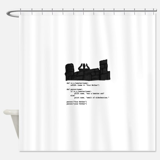 Your Mother was a hamster... Shower Curtain