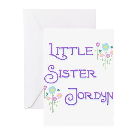 Little Sister Jordyn Greeting Cards (Pk of 10)